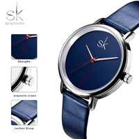 Women Watch Luxury Top Brand Business Watch Women Clock Leather Navy Simple Fashion Watch Ladies Relogio