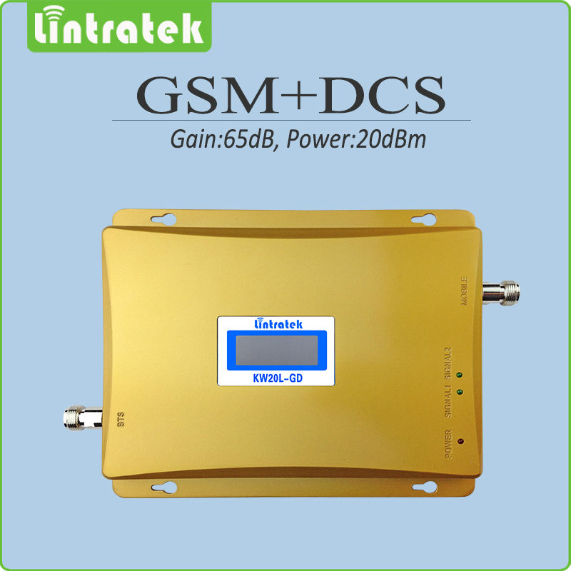 Gain 65dB gsm repeater 900 1800 mobile signal Boosters GSM DCS dual band repeater 900mhz 1800mhz