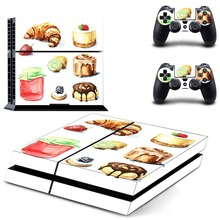 Десерт PS4 полный кожи Стикеры лицевые панели для sony playstation 4 консоль и контроллер
