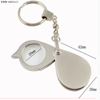 AIBOULLY Wearable 8X magnifying glass Magnifier with keychain design Jewelry ceramic observation Elderly life supplies Read