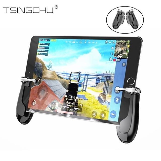 TSINGO para PUBG FPS juego Gamepad controlador L1R1 disparador Botón de fuego Aim Key Joystick mango de juego Universal para iPad Mini 5