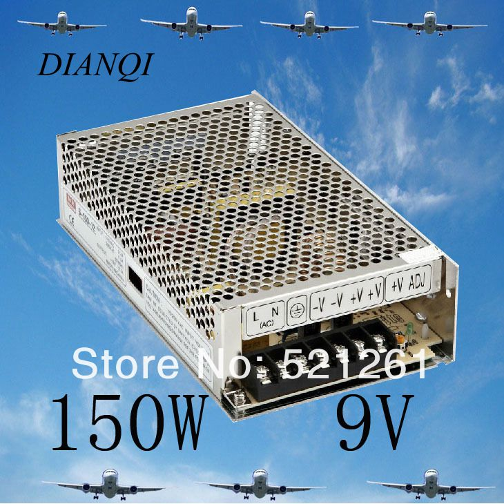S-150-9 power supply 150w 9V 16.7A ac to dc power supply unit ac dc converter adjustable output voltage cps 6011 60v 11a digital adjustable dc power supply laboratory power supply cps6011