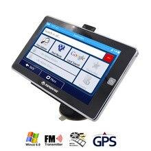 TOPSOURCE vehículo del carro del Coche de 7 Pulgadas GPS navigator MTK 800 Mhz DDR3 256 M 8 GB Win CE6.0 FM Navitel/europa/EE.UU./españa mapa Gratuito de actualización