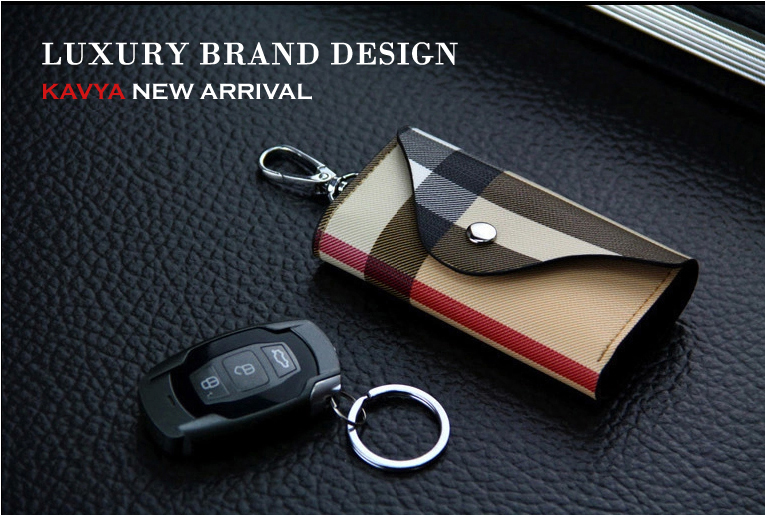 New High Grade Genuine Leather Purse Key Wallets Luxury Gift For Men Women Housekeeper Holders Key