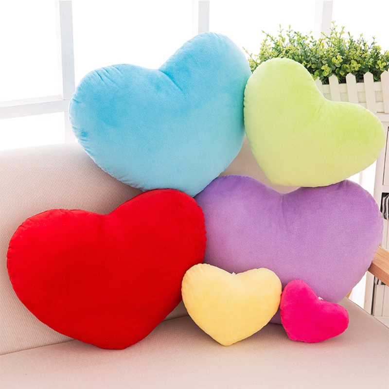 15cm/20cm/30cm Heart Shape Decorative Throw Pillow PP Cotton Soft Creative Doll Lover Gift creative piano key birds pattern square shape flax pillowslip without pillow inner