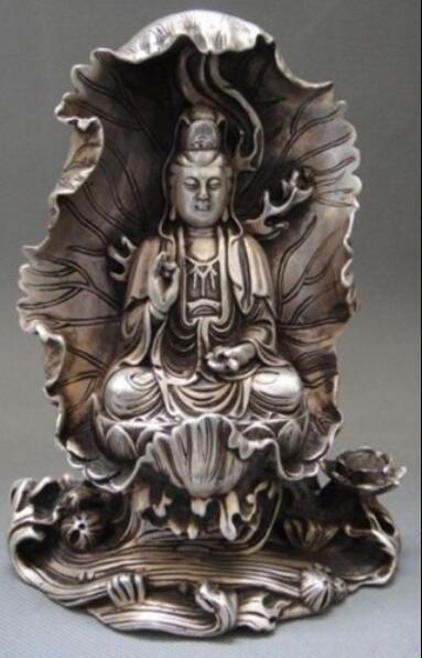 Chinese Tibet Tibetan rare Buddhism Cupronickel Yin Kwan-Yin Buddha StatueChinese Tibet Tibetan rare Buddhism Cupronickel Yin Kwan-Yin Buddha Statue