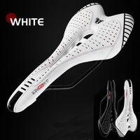 Microfiber Carbon Saddle Ultralight Breathable Cycling Bike Saddles Racing MTB Road PU Leather Seat Mountain Bicycle