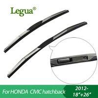 1 Set Wiper Blades For HONDA CIVIC Hatchback 2012 18 26 Car Wiper 3 Section Rubber