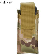 SINAIRSOFT Nylon Molle Clip Holster Single Magazine Pouch Airsoft Tactical Mag Belt Holder Bag For Hunting Flashlight SA4122