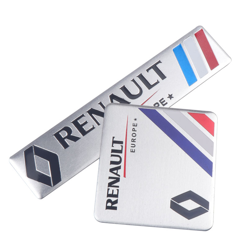 1PCS Automobiles 3D Metal Car Sticker Badge Emblem For Renault Duster Megane 2 Logan Renault Clio Decal Auto Accessories