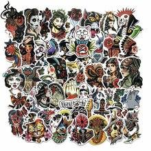 50 шт/лот забавные крутые цветные наклейки для татуировок старой