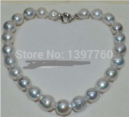 Charme Juif. magnifique Naturel blanc 13-17mm kasumi Collier de Perles