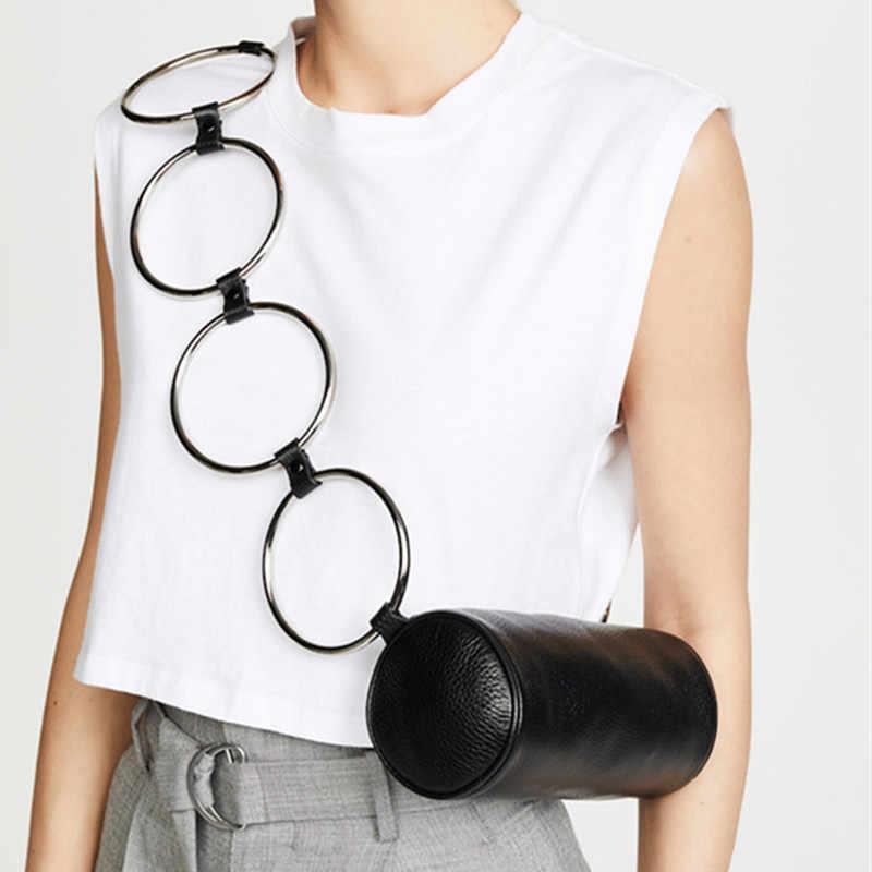 Модная круговая скраб личи из искусственной кожи ретро металлическая сумочка с кольцом маленькая круглая сумка на плечо Женская Мини Круглые сумки Прямая доставка
