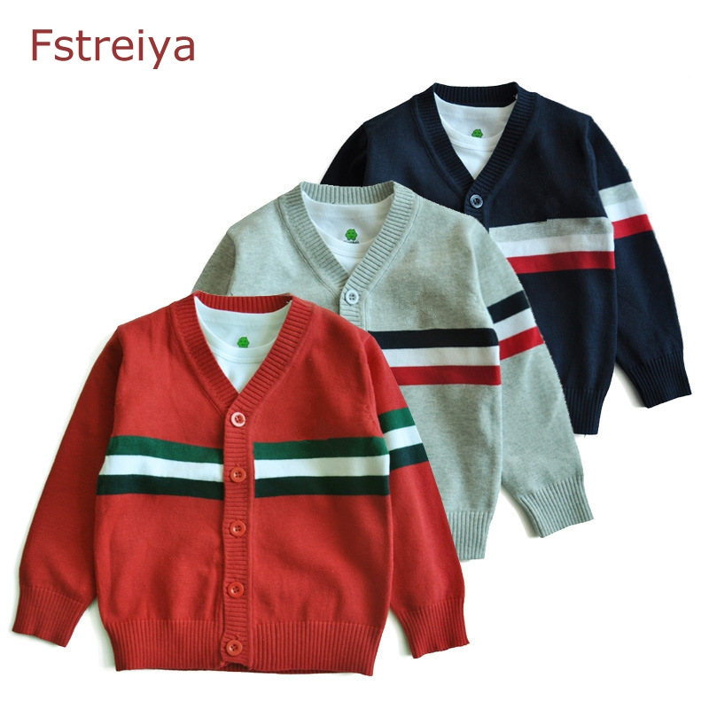 87d01292e Baby boys christmas sweater kids Striped cardigan girl autumn ...