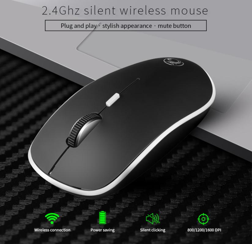 iMice Silent Wireless Mouse Ultra quiet Mice 2.4G Ergonomic Mouse Noiseless Button With USB Receiver Computer Mice For PC Laptop