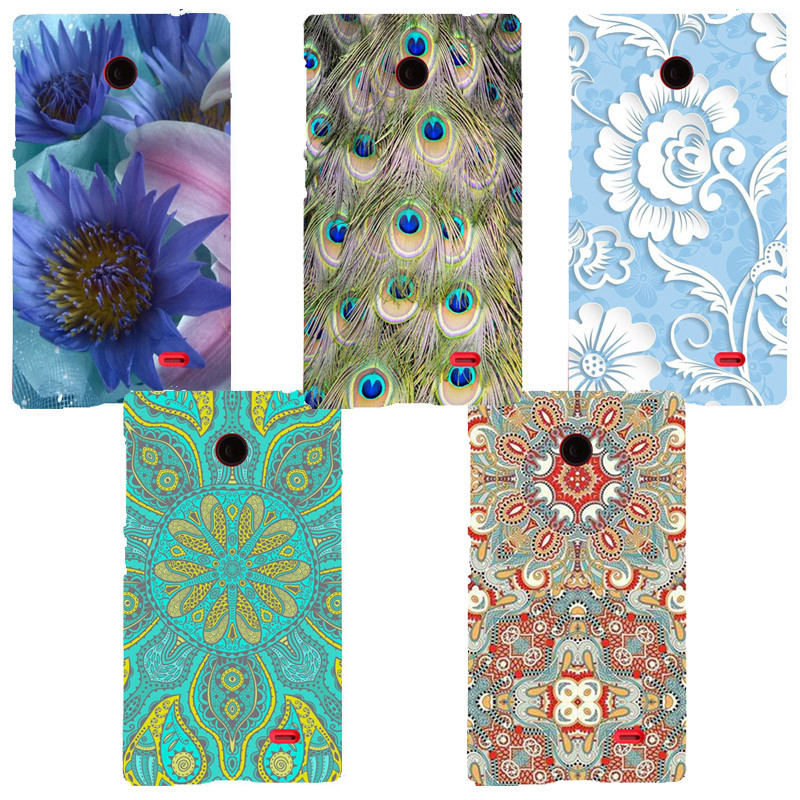 Fashion Printed Case For Nokia X Dual SIM A110 RM-980 Cover Original Cute Printing Drawing Hard Plastic Phone Case For X Shell