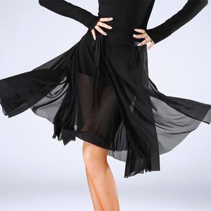 Image 3 - Fashion Women Latin Dance Skirt For Sale Waltz Tango Ballroom Sexy Practice Dancing Training Skirts Performance Wears DL2559