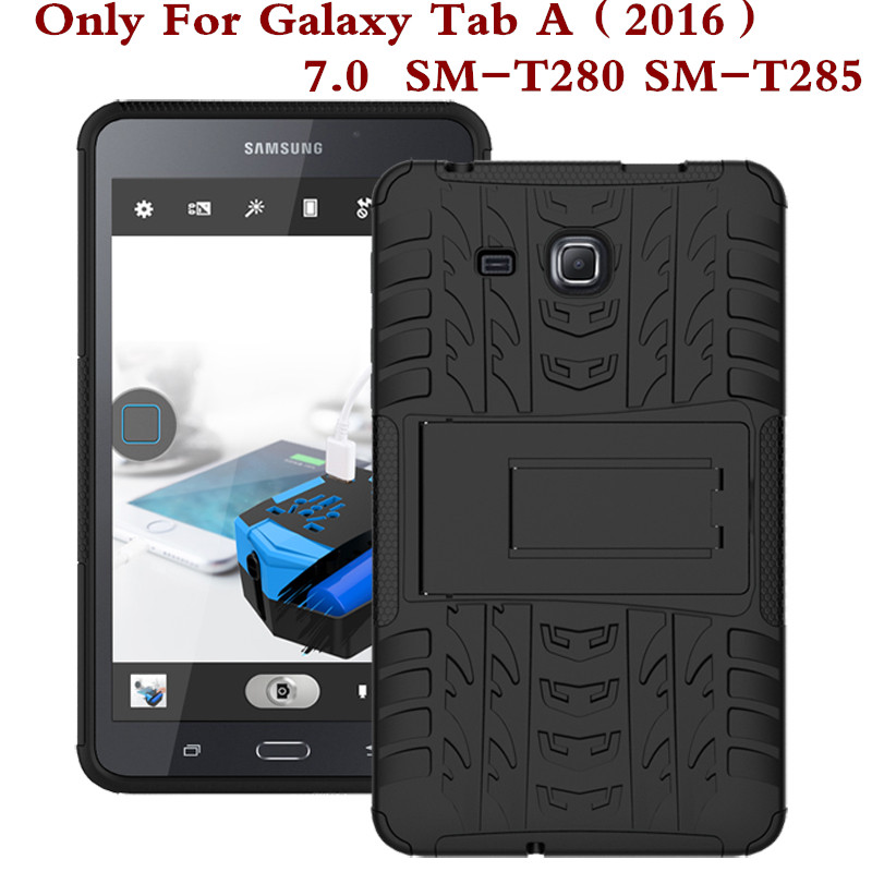 Shockproof Heavy Duty Rubber Hard Case Cover For Samsung Galaxy Tab A 7.0 2016 SM-T280 Drop Proof Tablet Shell For T280 T285 Pen tire style tough rugged dual layer hybrid hard kickstand duty armor case for samsung galaxy tab a 10 1 2016 t580 tablet cover