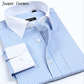 Free shipping Man Spring 2017 New Arrival Mens Shirts  Long Sleeve Business Casual Slim Fit plus size S- 4XL Shirt For Men 38