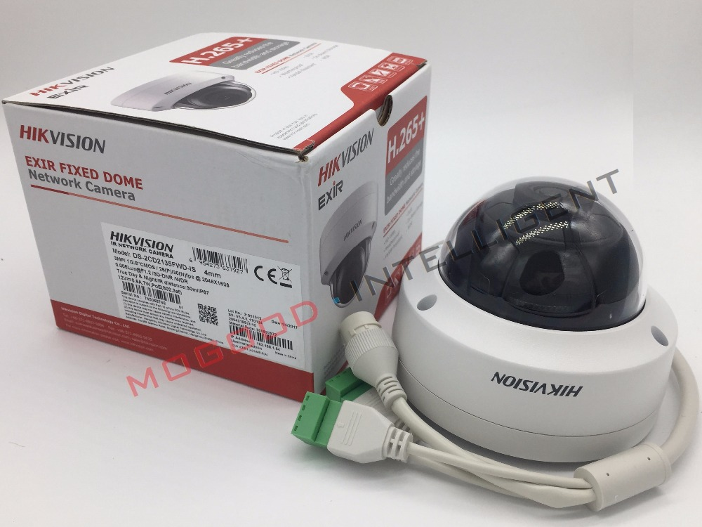 Hikvision English Version DS-2CD2155FWD-I 5MP H.265 IP Dome Camera Ultra-Low Light Support EZVIZ P2P PoE IR 30M Waterproof