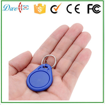 DWE CC RF ISO14443A MF s50 proximity contactless keychain tag for access control blue color