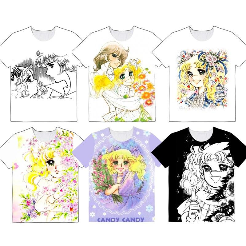 Japanese Women Creamy Mami Large Size T Shirt Girls Short Sleeve Fashion T-shirt Tee Shirt Top Tshirt XS-5XL