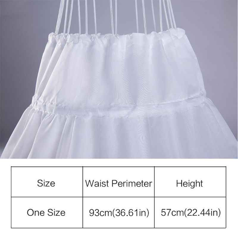 สีขาวเด็ก Petticoat A-Line 3 ห่วง One ชั้นเด็ก Crinoline Lace Trim ดอกไม้สาวชุดกระโปรง Elastic เอว