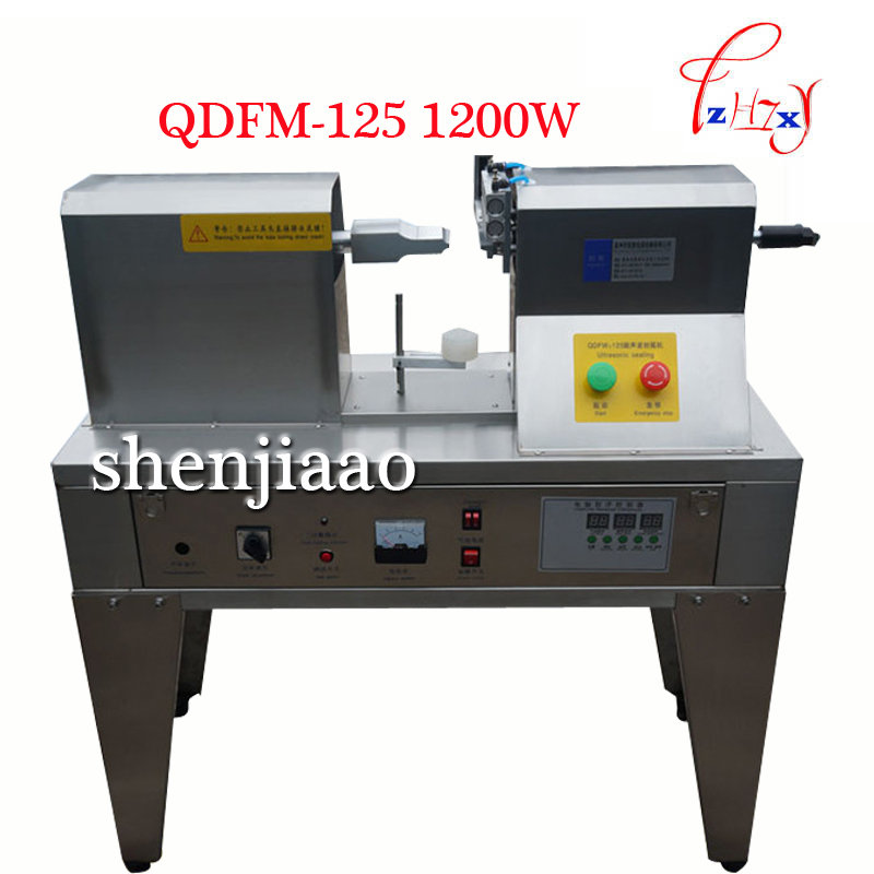 QDFM-125 1200W Ultrasonic wave Tube Tail sealer ,Hose seals tail machine,Impulse Sealing machine for commodity 1pc qdfm 125 1200w ultrasonic wave tube tail sealer hose seals tail machine impulse sealing machine for commodity 1pc