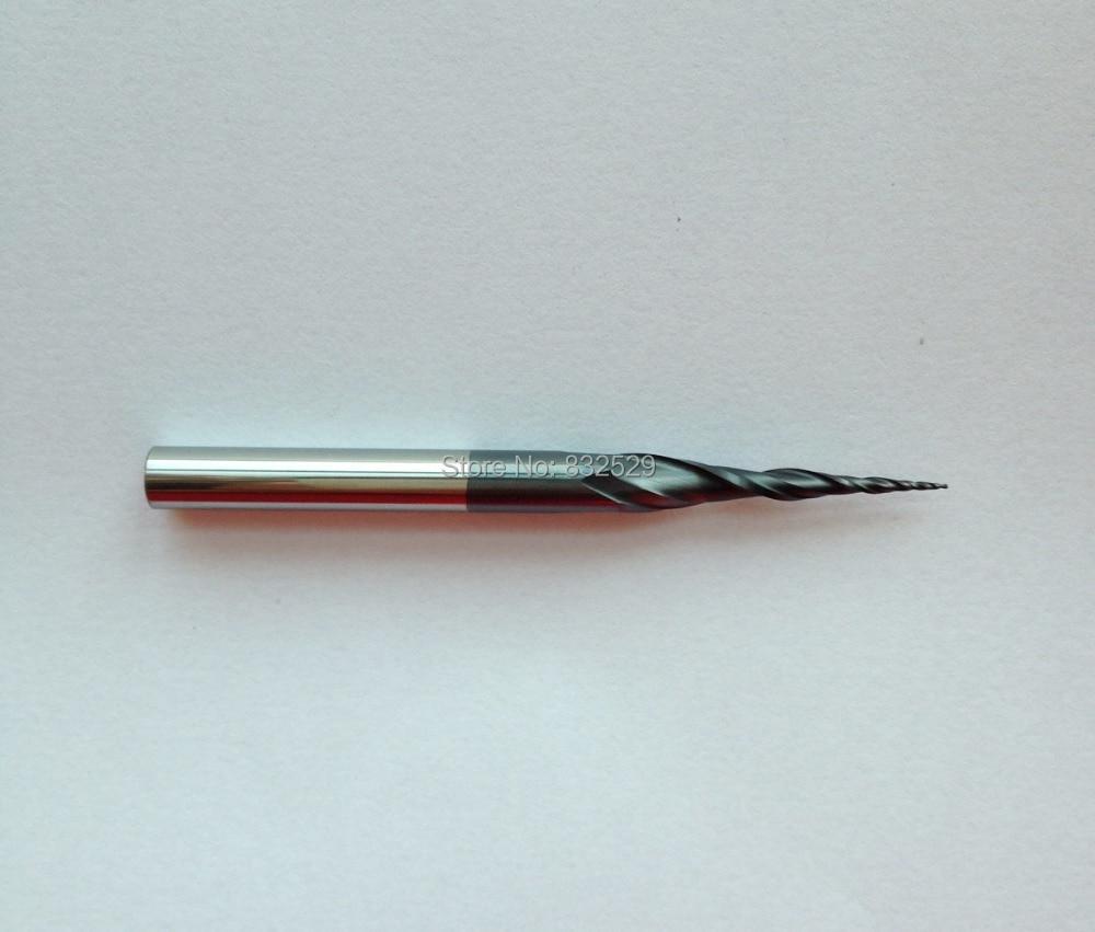 2 pz / lotto HRC55 R0.25mm Frese in metallo duro conico rivestito - Macchine utensili e accessori - Fotografia 2