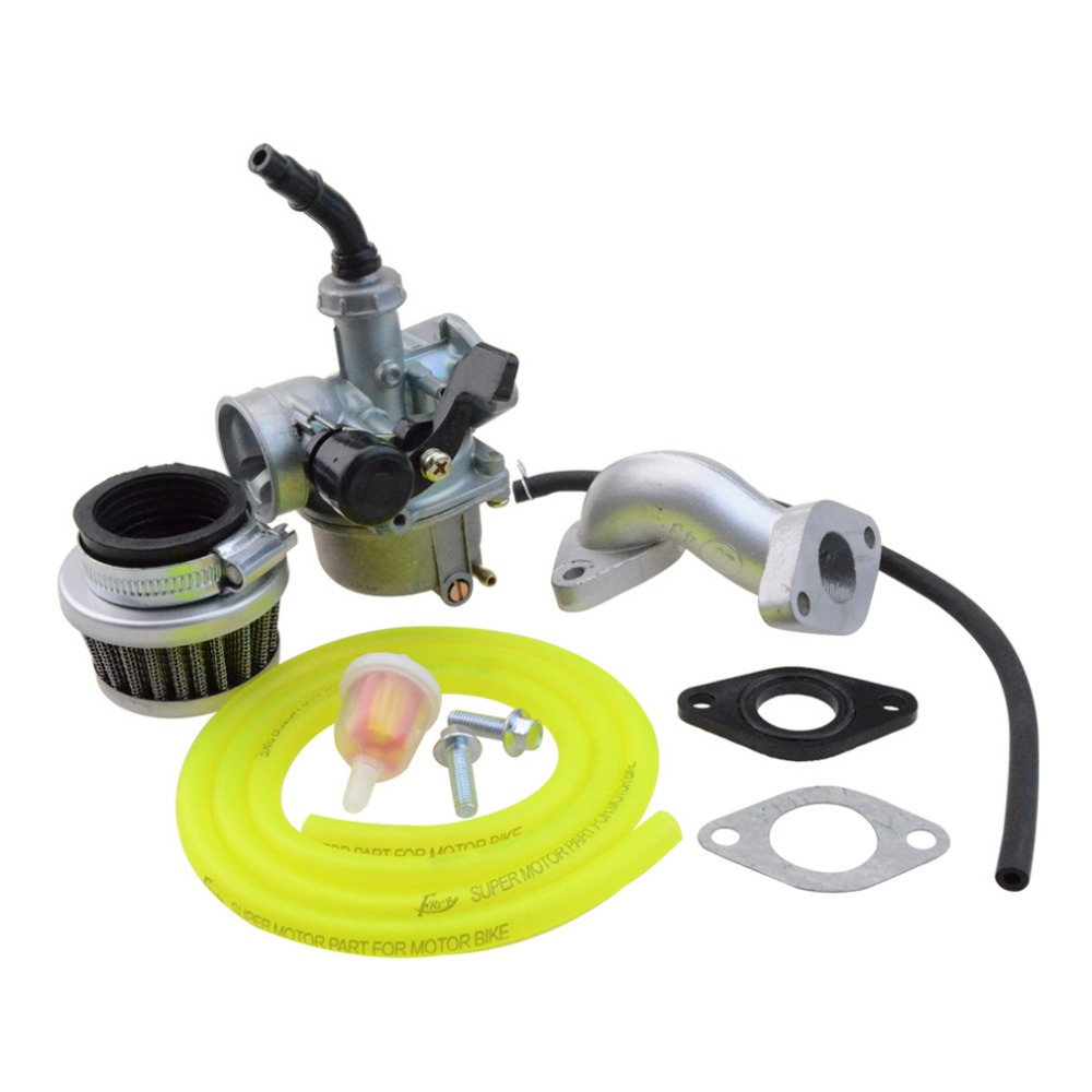 GOOFIT PZ19 Carburetor Air Filter Carburetor Rebuild Kit XR/CRF 50cc 90cc 110cc 125cc Moped ATV POLARIS YELLOW Taotao Sunl