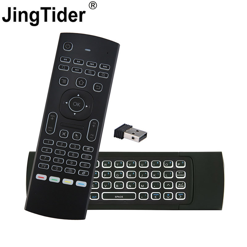 MX3 2.4G Mini Wireless Keyboard Infrared Remote Control Air Mouse Controller for Smart TV Android TV Box Computer PC Projectors 2 4ghz wireless air flying mouse ir remote controller for pc tv box black