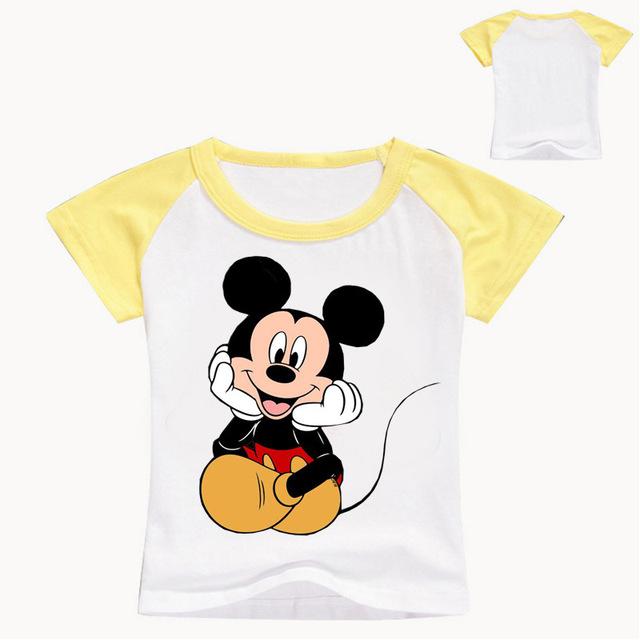 2018 New Summer Children Cartoon Mickey Print T Shirt Baby Boy Clothes Girl Short Sleeve T-Shirt Kid Top Tee Baby O-Neck Costume