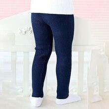 Новые осенние однотонные штаны с рисунком для маленьких девочек, леггинсы, милые детские эластичные теплые штаны, штаны