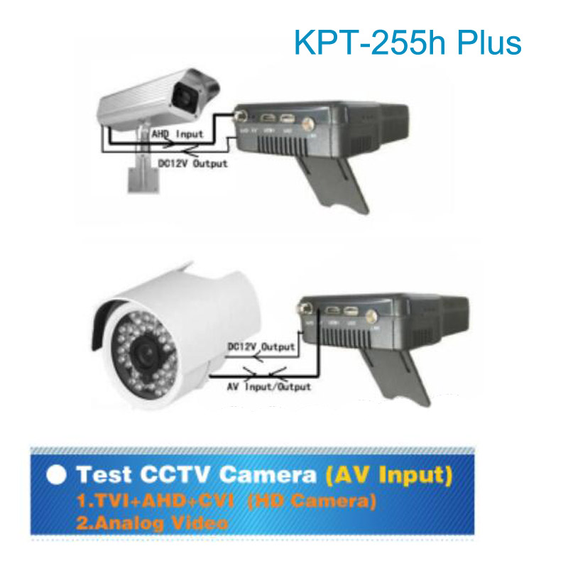 kpt 255h plus kpt 255+ sat finder hd test cctv camera lcd backlight button 4.3 inch DVB S/S2 signal with av usb hd mi output
