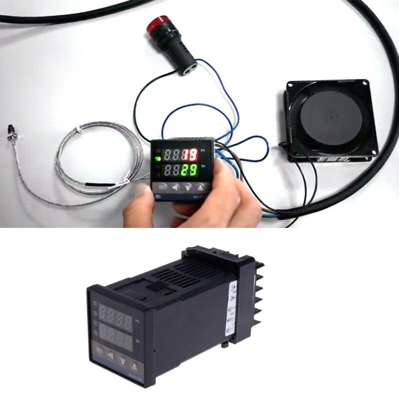 PID цифровой Температура контроллер REX-C100 от 0 до 400 градусов K Тип Вход ССР Выход темп контроллер ...