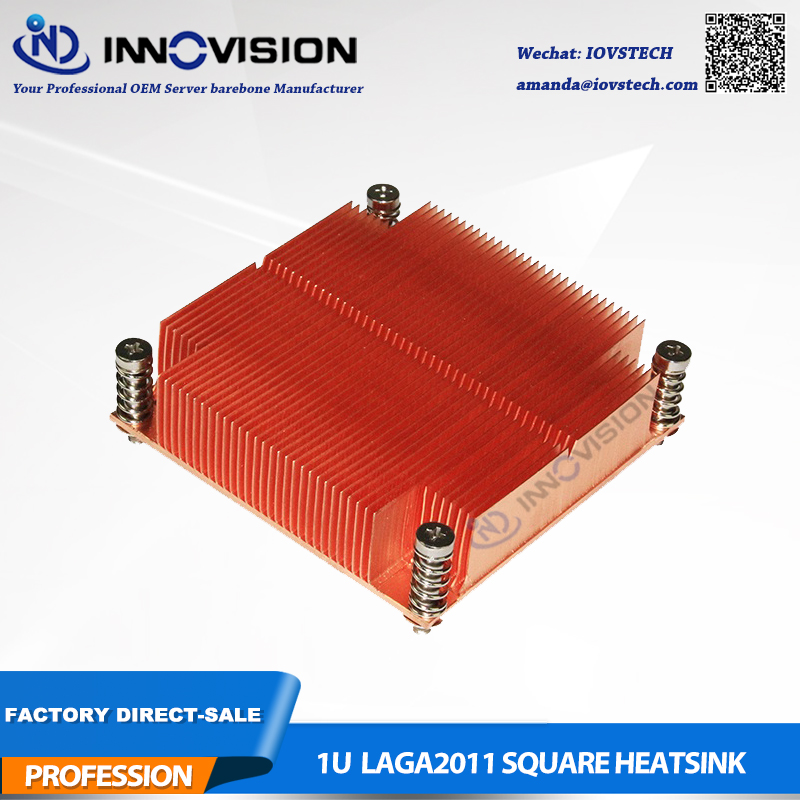New CPU Cooler LGA2011 Square passive heatsink for 1U server