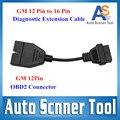 2016 De Alta Calidad Bajo Precio GM 12 Pines A 16 Pines OBD2 Auto Diagnóstico Conector Cable Adaptador de Coche 12Pin GM Para GM vehículos