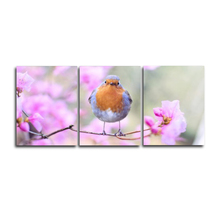 Laeacco Decorative 3 Panel Bird and Flower Posters and Prints Canvas Painting Wall Art Home Decor Picture Living Room Decoration