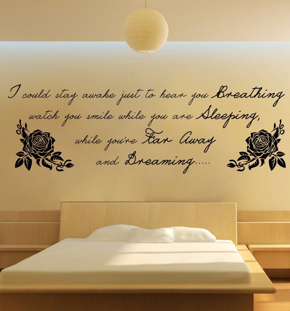 Aerosmith breathing lyrics large wall art quote bedroom sticker aerosmith breathing lyrics large wall art quote bedroom sticker decal removable vinyl transfer stencil mural home room decor in wall stickers from home amipublicfo Image collections