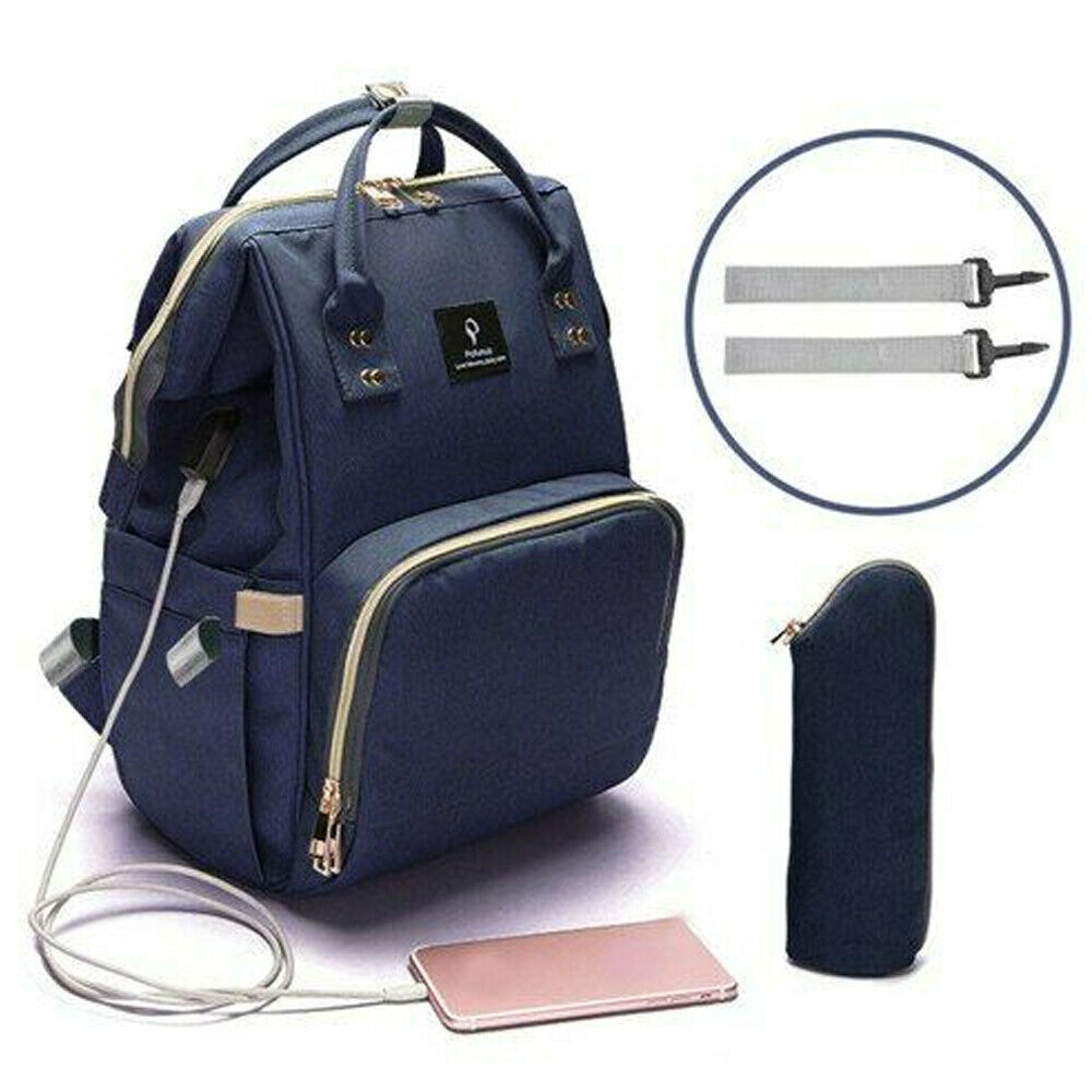 2019 Newest Fashion Multi-use Large Mummy Baby Diaper Nappy Backpack Mom Changing Travel Bag