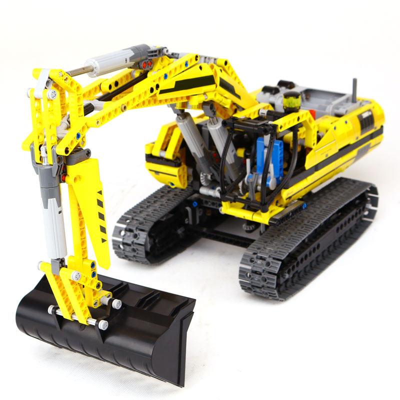 New LEPIN  technic series 1123pcs excavator Model Building blocks Bricks  Toy Christmas Gift LegoINGlys 8043 Educational Car compatible legoinglys technic series class sports car f40 1158pcs elementary education building blocks toy for children gift