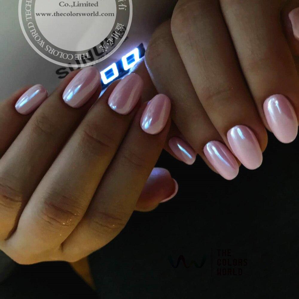 Nails Art & Werkzeuge Obligatorisch Tcwz671-w Dreidimensionale Funkelnden Spiegel Pigment White Farbe Perlglanz Pulver Farbe Shifting Magie Für Nail Art Oder Andere