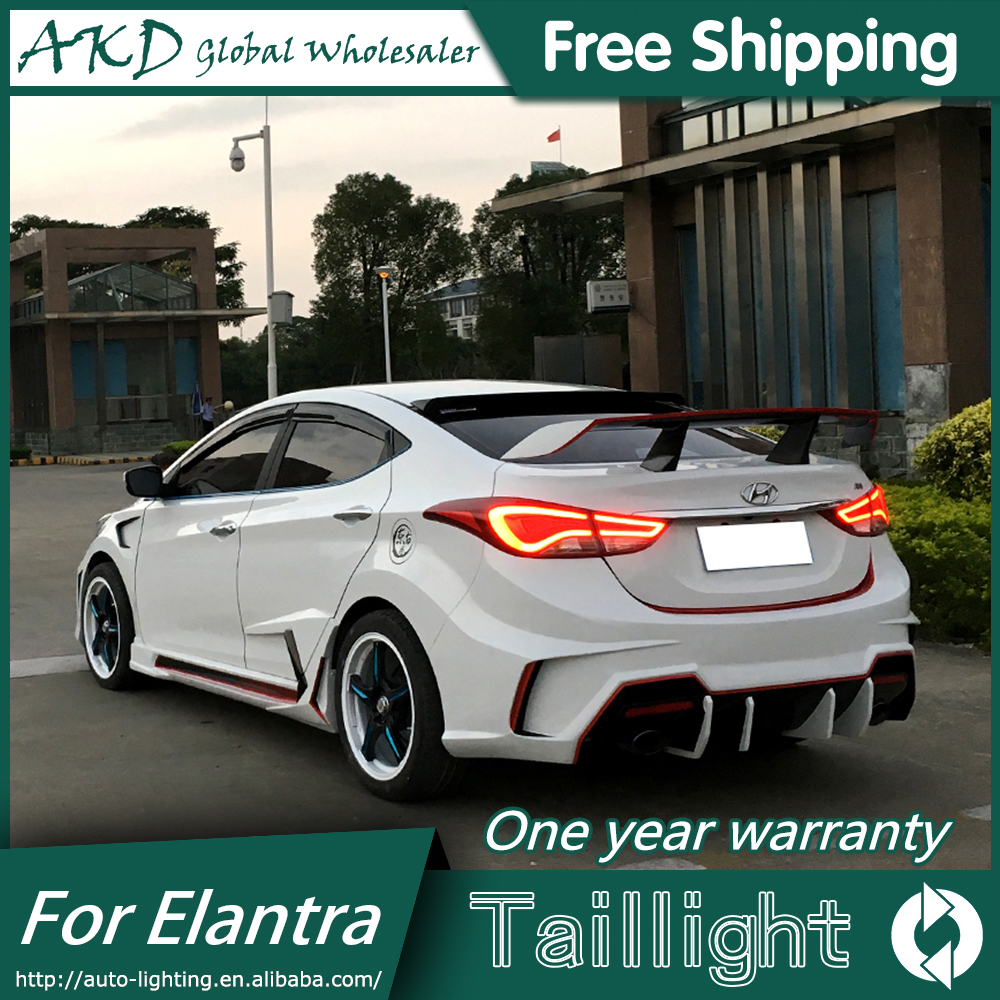 AKD Car Styling for Hyundai Elantra Tail Lights 2012 2016 LED Elantra Tail Light Rear Lamp