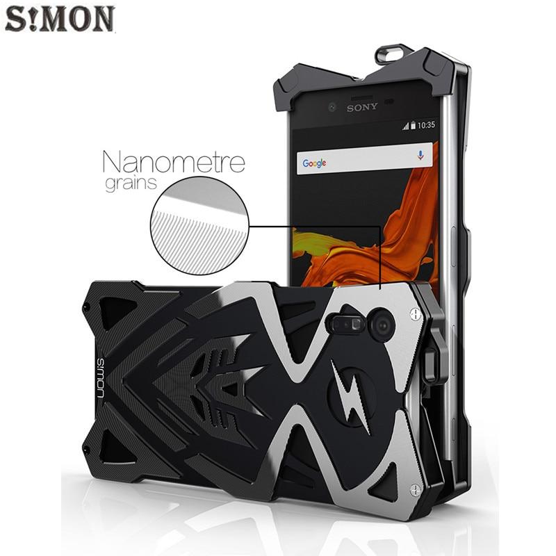 Цена за Саймон ТОР IRONMAN Case для Sony XZ 5.2 дюймов Металл Броня ЧПУ Алюминиевый Противоударный Чехол Case для Sony Xperia XZ двойной тонкий f8332
