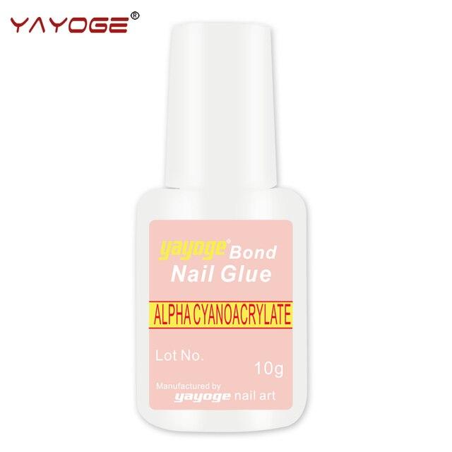 10g YAYOGE Nail Glue with Brush full bottle Bonder Bond for UV gel ...