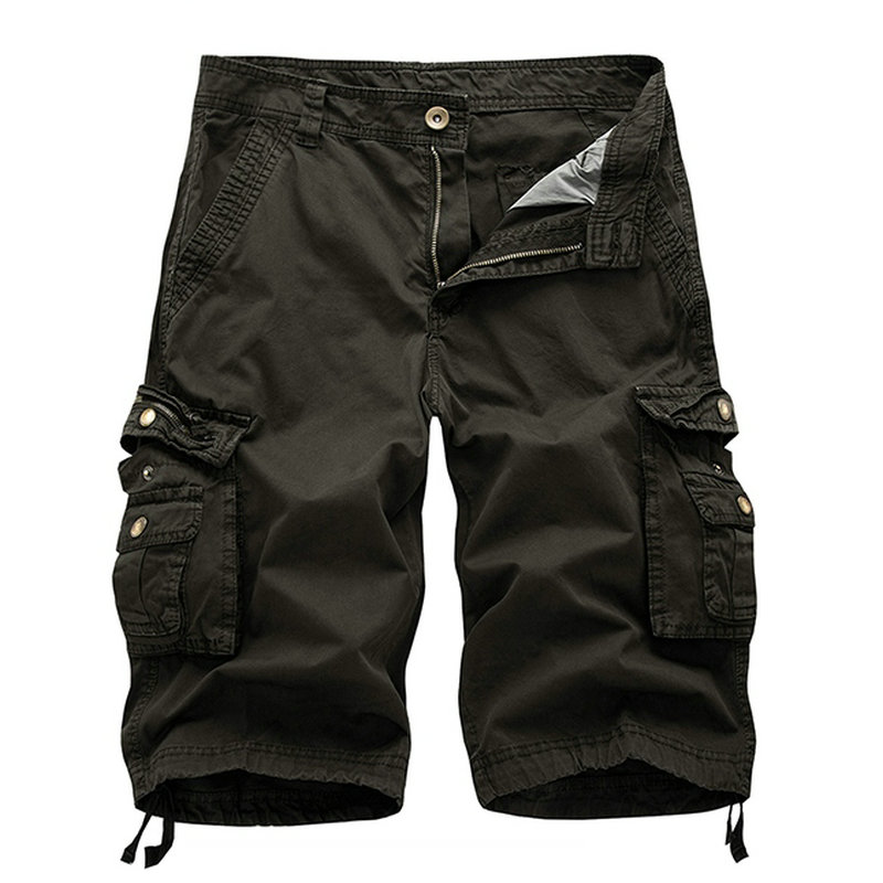 2018 Sommer Männer Casual Shorts Baumwolle Slim Fit Strand Herren Cargo-shorts Feste Knie-länge Bermuda Shorts Für Männer Attraktiv Und Langlebig