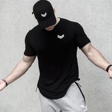2019 Summer new Men gyms Fitness t shirt Bodybuilding Shirts Fashion C