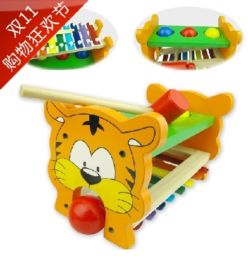 Exempt postage fancy wooden toys music beat toys piling little tiger hand knock