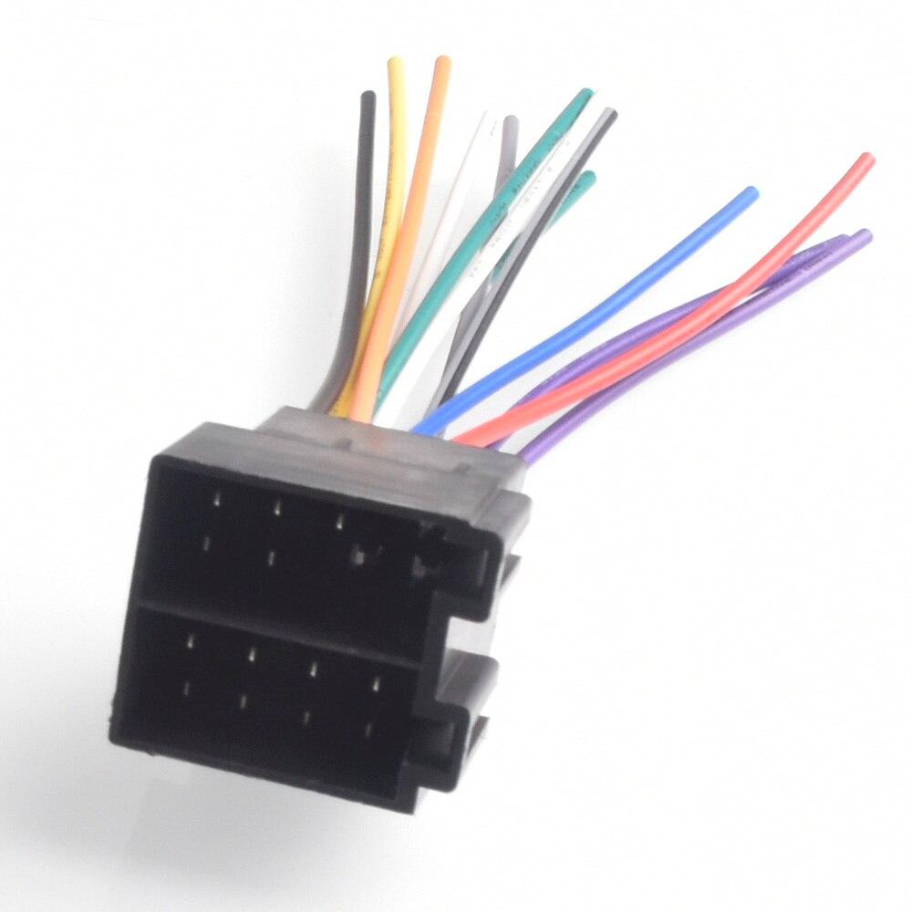 Автомобильный женский ISO радио провод жгут проводов адаптер разъем адаптера для VW Jetta Golf Passat для Audi a4 a6 для Ford Focus
