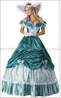 Colonial Civil War Scarlett Party Dress Southern Belle Lolita Cosplay Ball Gown